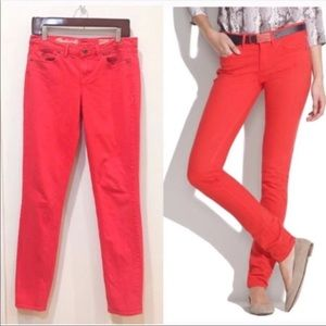 Madewell • Skinny Skinny in Orange/Red